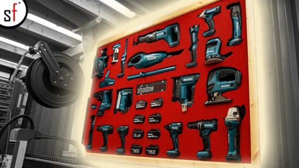 Makita Power Tool Wall YouTube Thumbnail